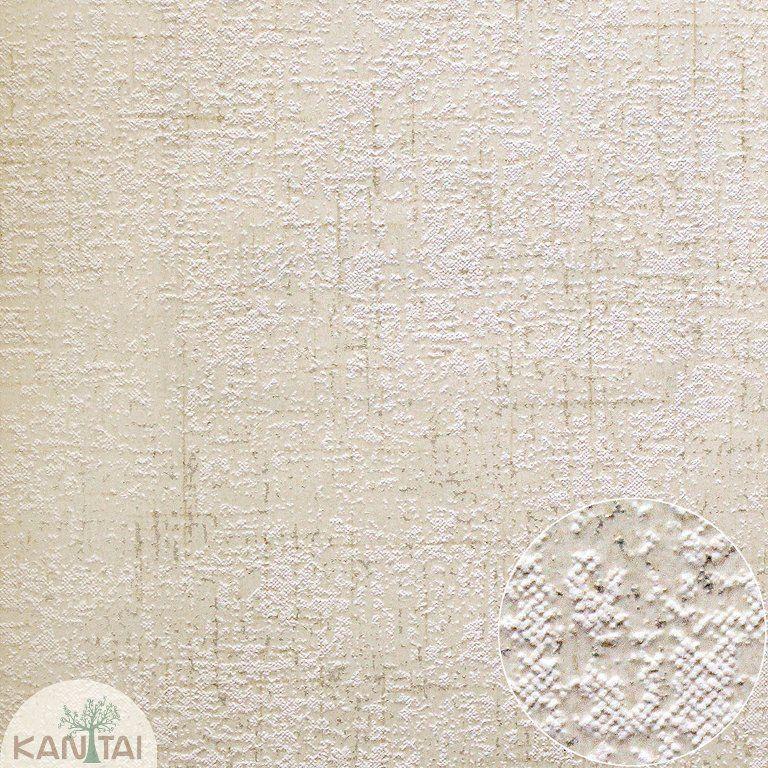 Parede de parede Kan Tai TNT Coleção Space 4 Textura Creme, Dourado