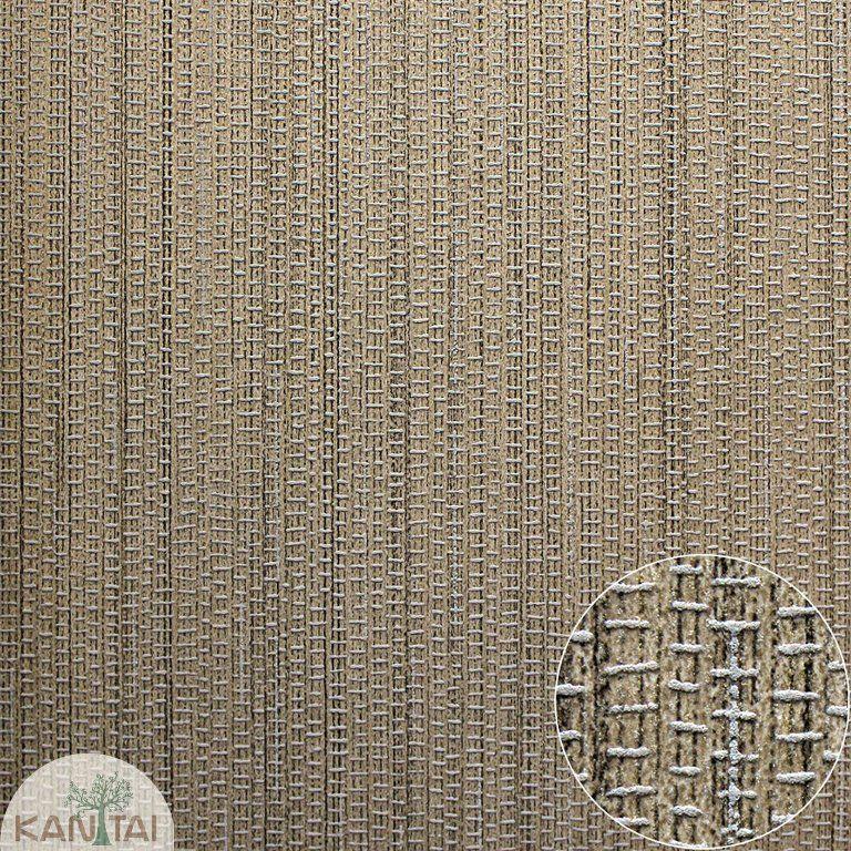 Parede de parede Kan TaiTNT Coleç ão Space 4 Textura trama Dourado, Detalhes cinza