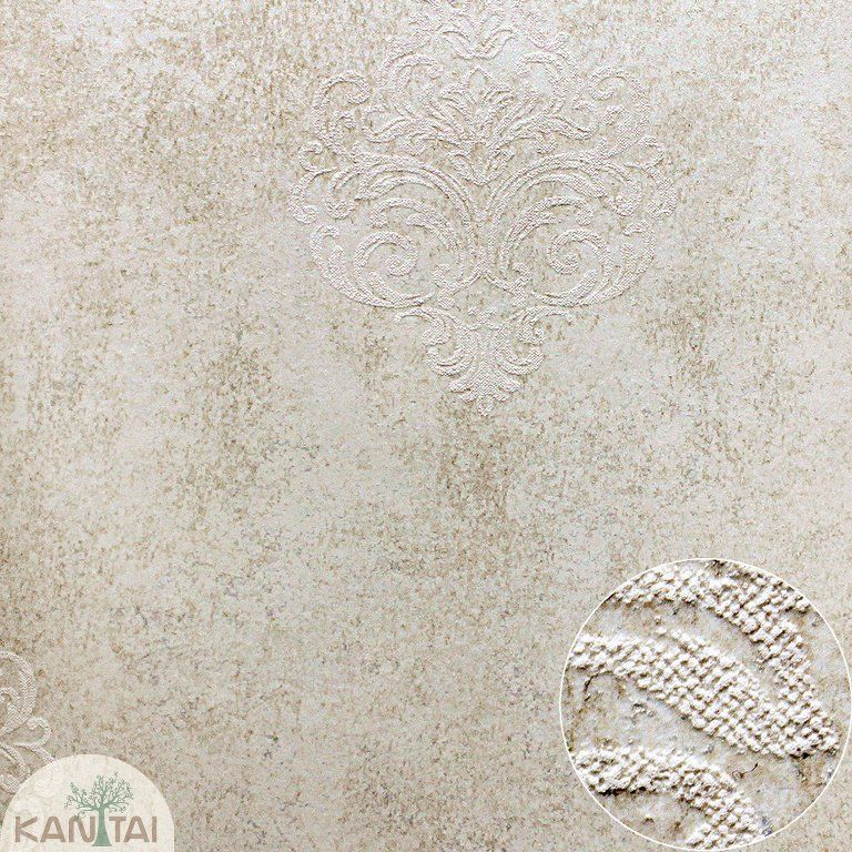 Parede de parede Kantai TNT Coleção Space 4 Arabesco Creme, Dourado