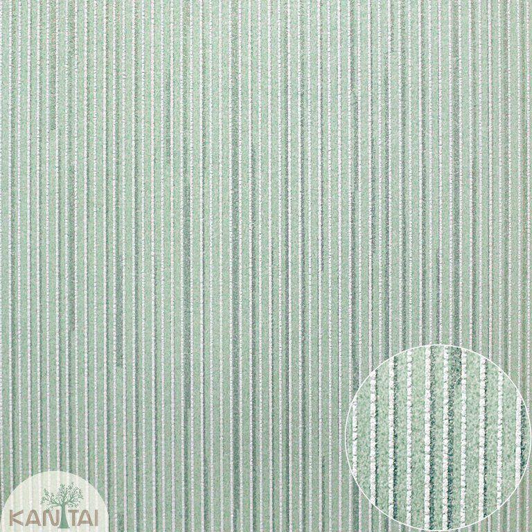 Parede de parede Kan Tai NT Coleção Space 4 Listras finas tons verde, Dourado