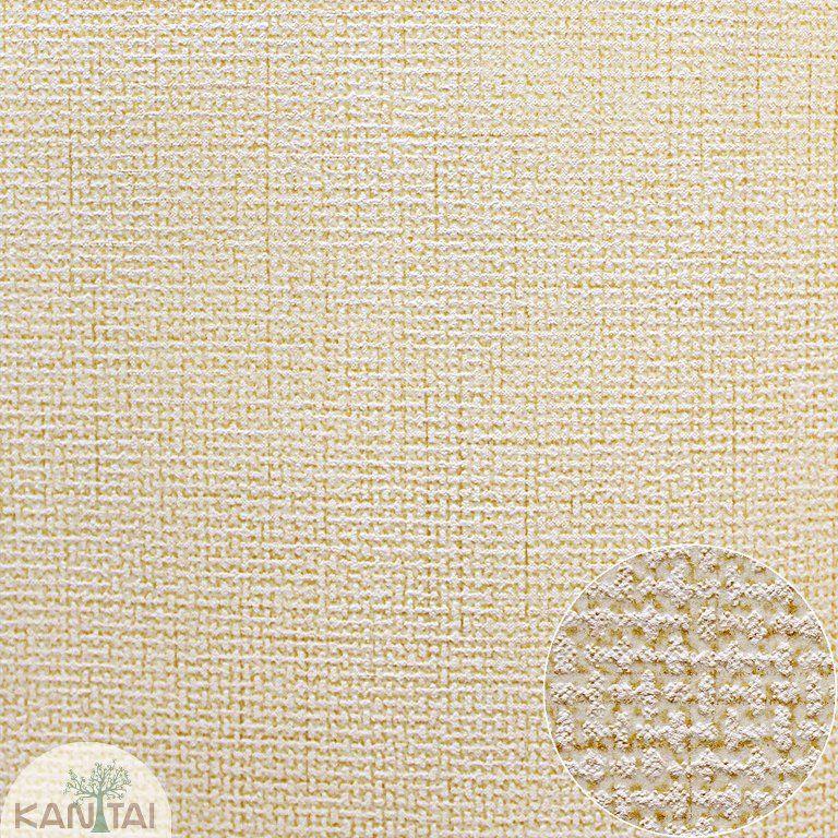 Parede de parede Kan Tai TNT Coleção Space 4 Textura Linho Creme, Dourado
