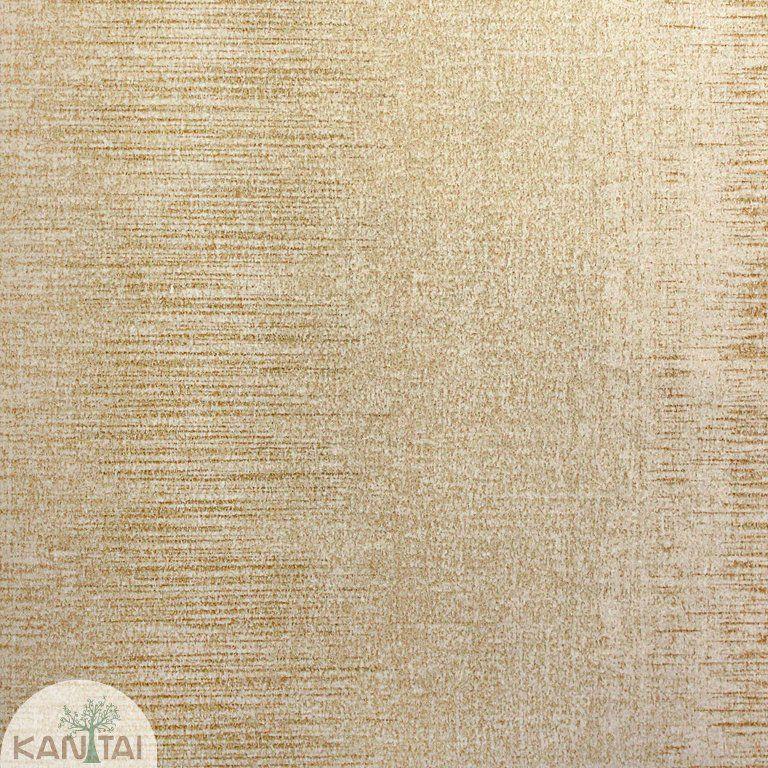 Parede de parede Kan Tai TNT Coleção Space 4 Textura Bege, Detalhes Riscas Verticais Dourado
