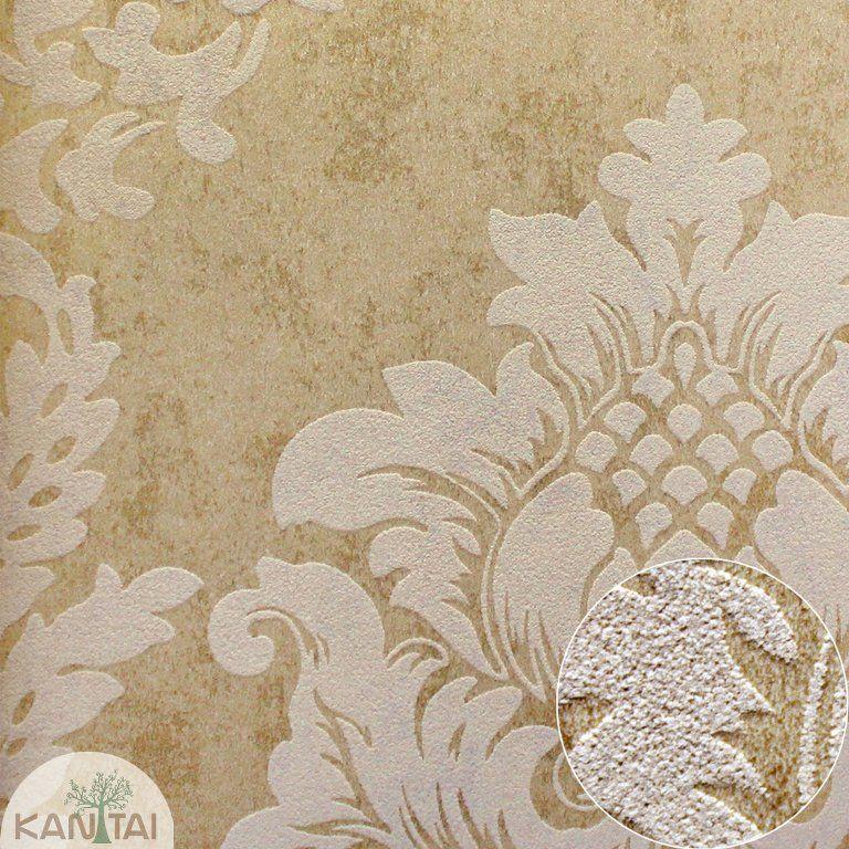 Parede de parede  Kan Tai TNT Coleção Space 4 Arabesco Dourado, Bege