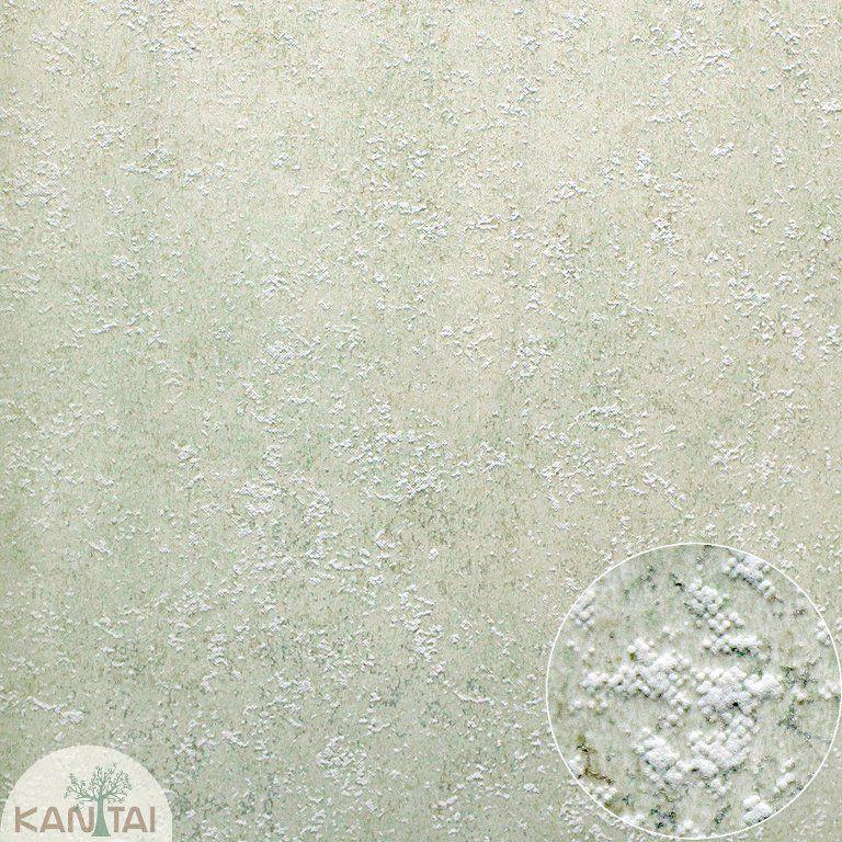 Parede de Parede Kan Tai TNT Coleção Space 4 Textura Tons verde claro, Dourado