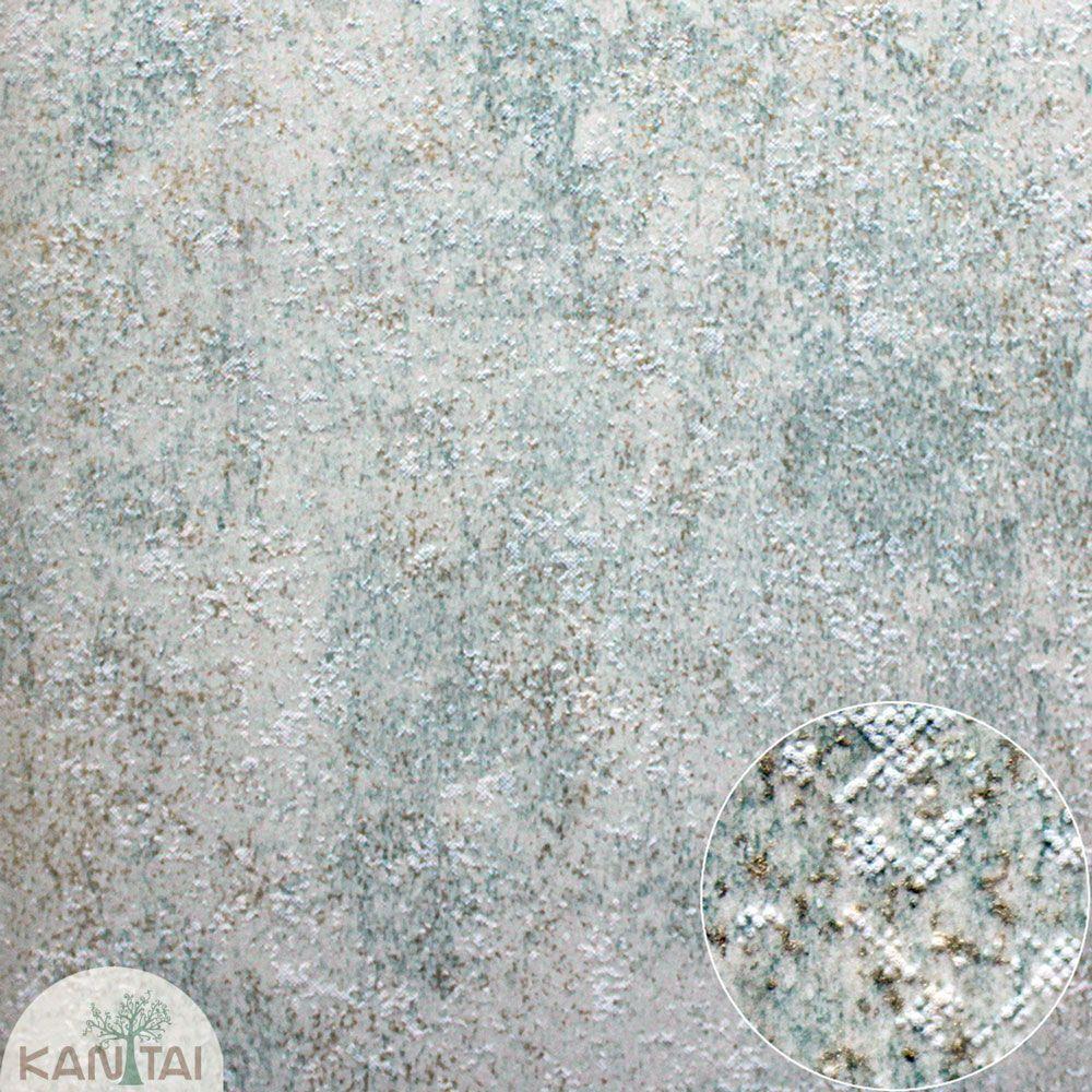 Parede de parede Importado Kantai TNT Coleção Space 4 Textura, Verde, Bege, Dourado