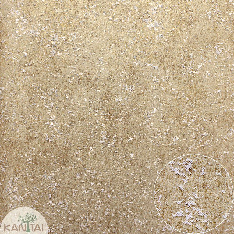 Parede de parede Kan Tai TNT Coleção Space 4 Textura Bege, Detalhes Dourado