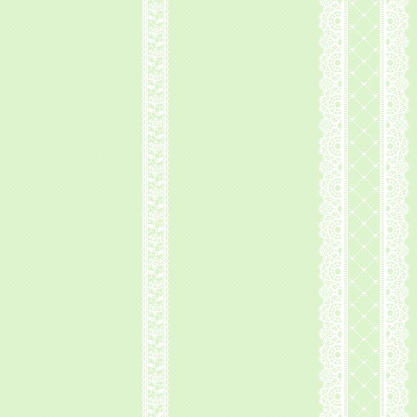 Papel de Parede Kan Tai TNT Infantil Coleção YoYo Listrado renda Verde