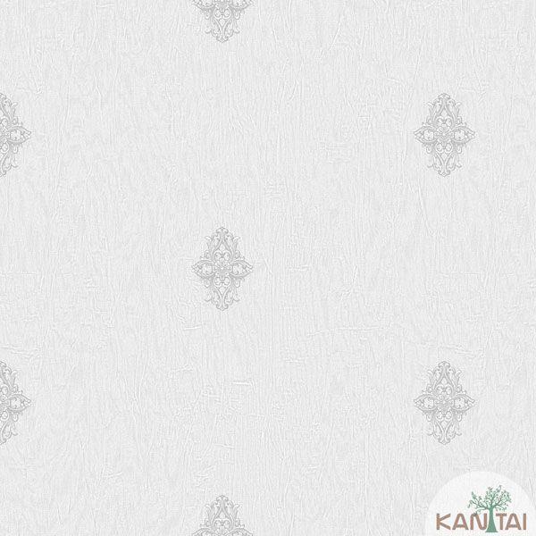 Papel de Parede Kantai Vinílico Coleção Barcelona Mini Arabesco Textura Cinza