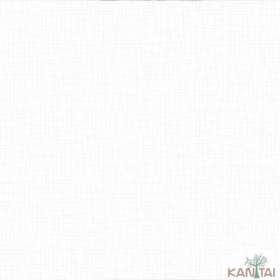 Papel de Parede Kan Tai  Vinílico Coleção Barcelona Clean Clássico Off White
