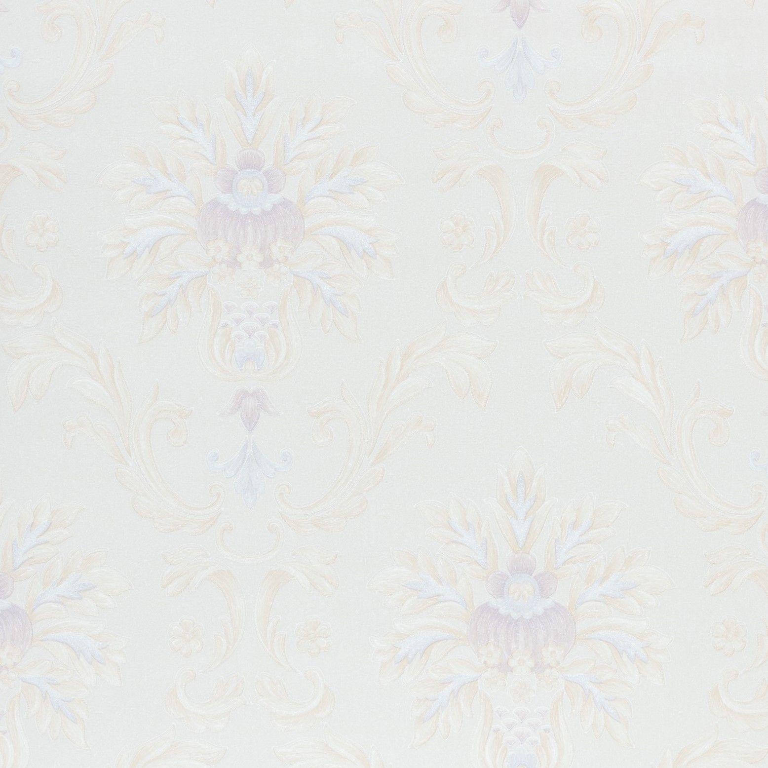 Papel de Parede Paris Decor Vinílico Coleção Chamonix Damask Bege, Lilás