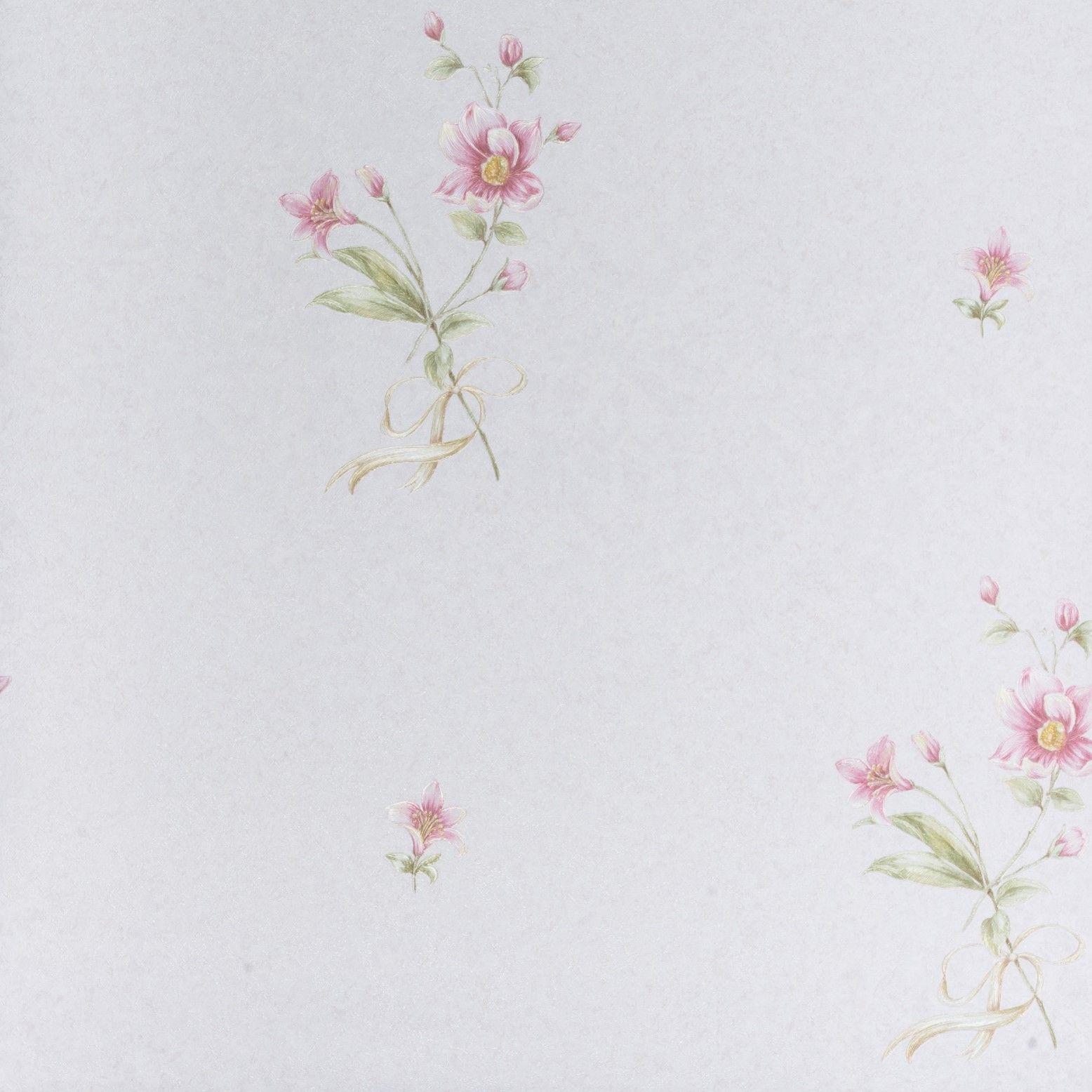 Papel de Parede Paris Decor Vinílico Coleção Chamonix Floral Flores Discretas