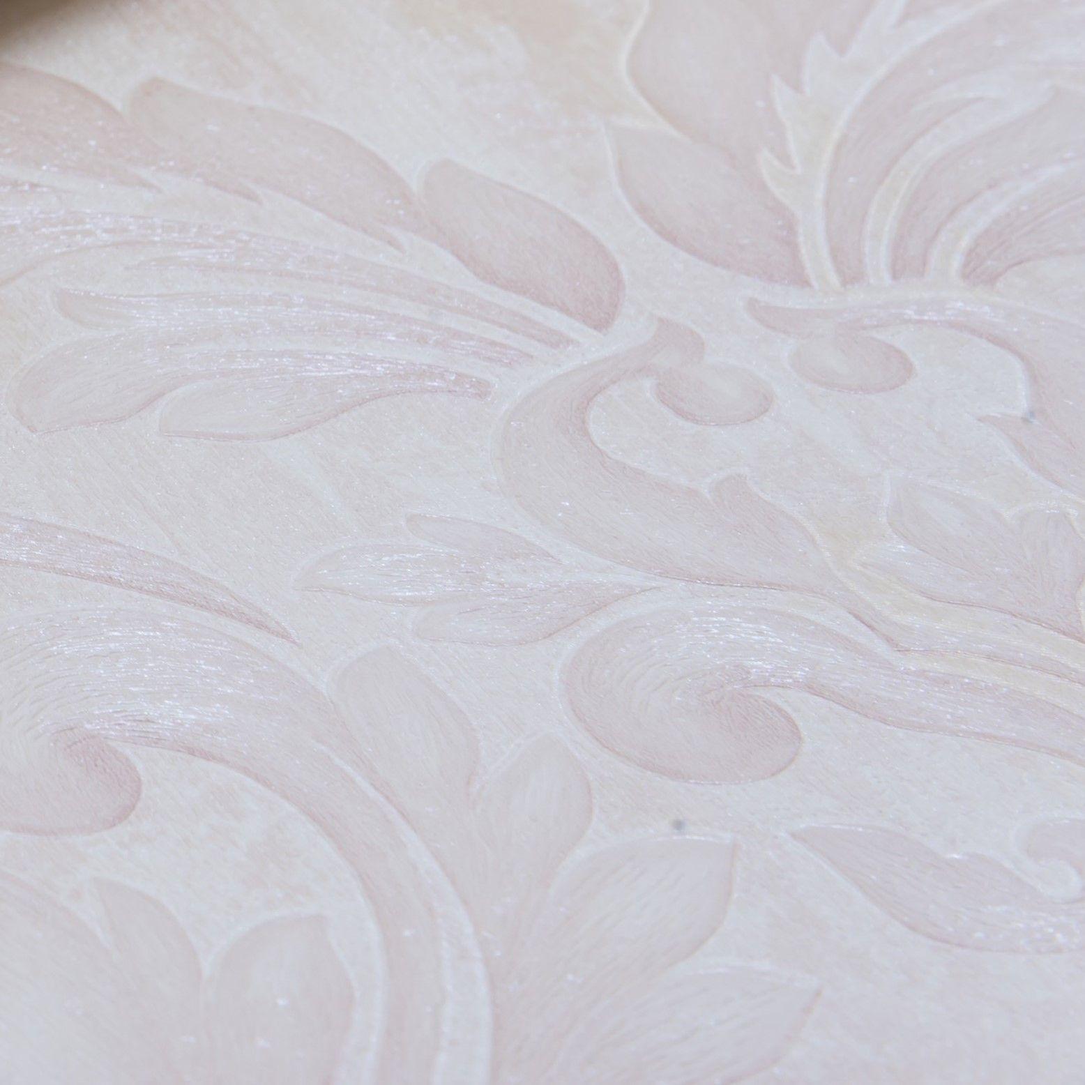 Papel de Parede Paris Decor Vinílico Coleção Chamonix Damask Rosê