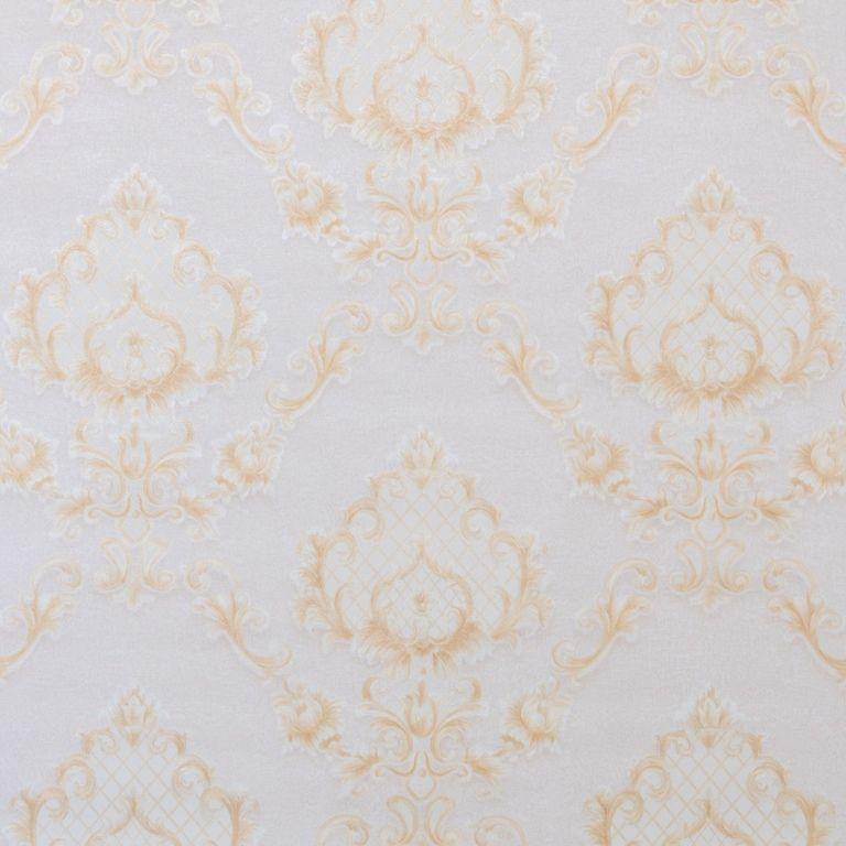 Papel de Parede Paris Decor Vinílico Coleção Chamonix Damask Rosê Claro, Dourado