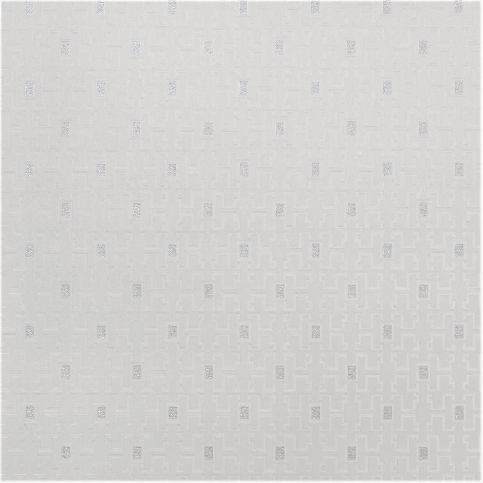 Papel de Parede Paris Decor Vinílico Coleção Colmar Geométrico Off White, Prata
