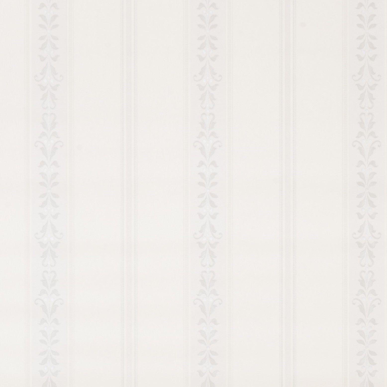 Papel de Parede Paris Decor Vinílico Coleção Colmar Listras Adamascado Detalhes Off White, Cinza