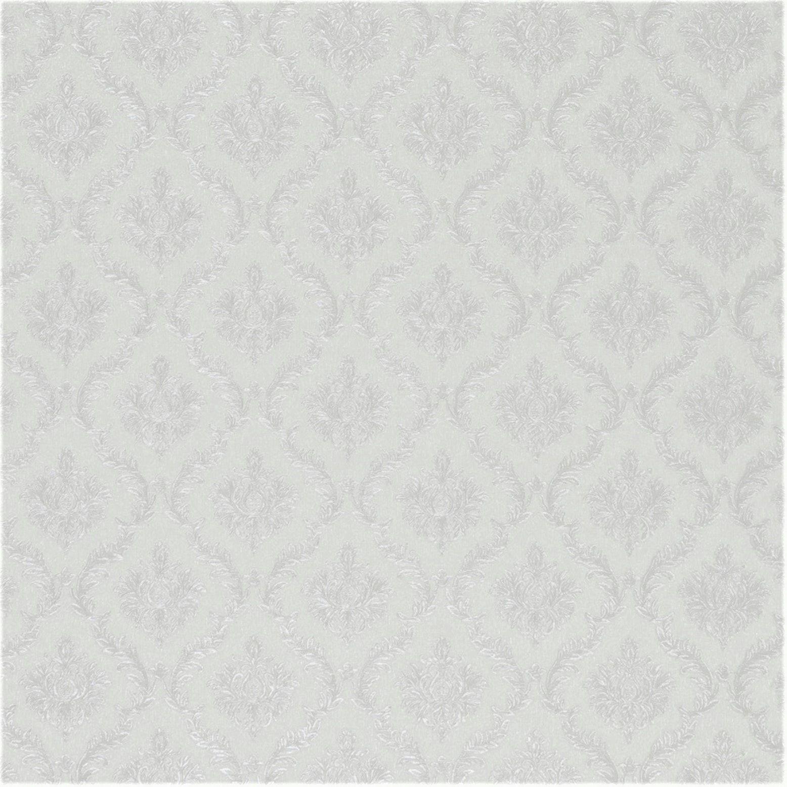 Papel de Parede Paris Decor Vinílico Coleção Colmar Mini Damask Off White
