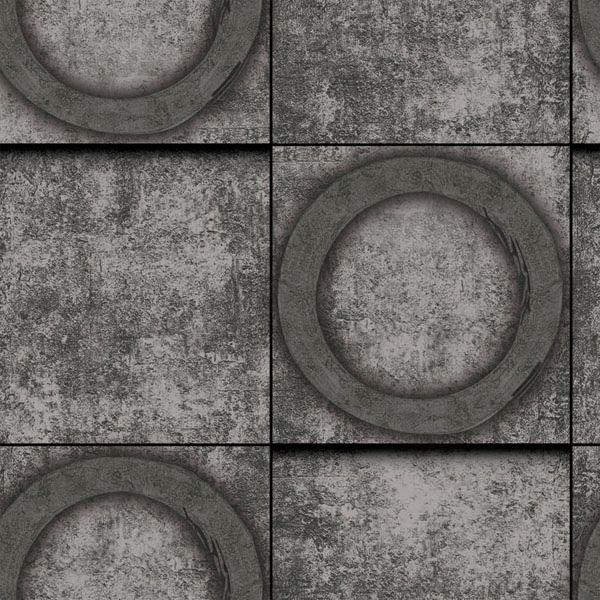 Papel de Parede Kan Tai Vinílico Coleção Neonature 5 Cimento Geométrico Grafite