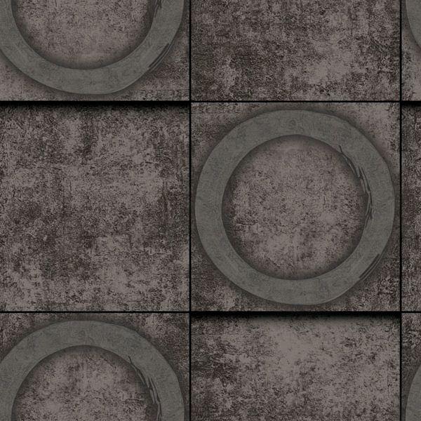 Papel de Parede Kan Tai Vinílico Coleção Neonature 5 Cimento Geométrico Marrom