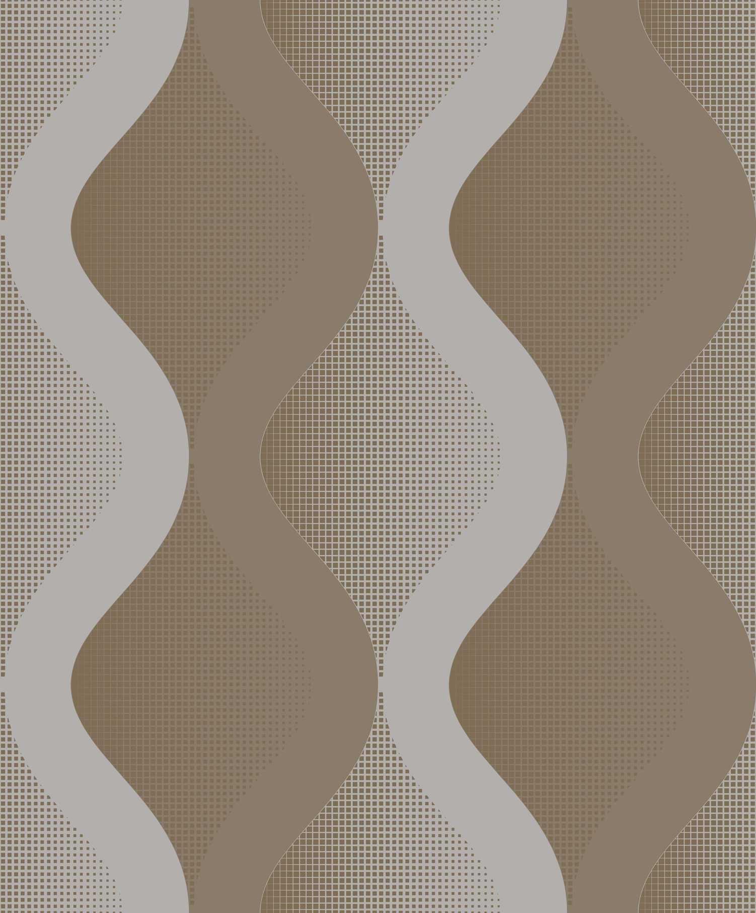 Papel de Parede Kan Tai Vinílico Coleção Neonature 5 Formas Cinza, Marrom, Brilho