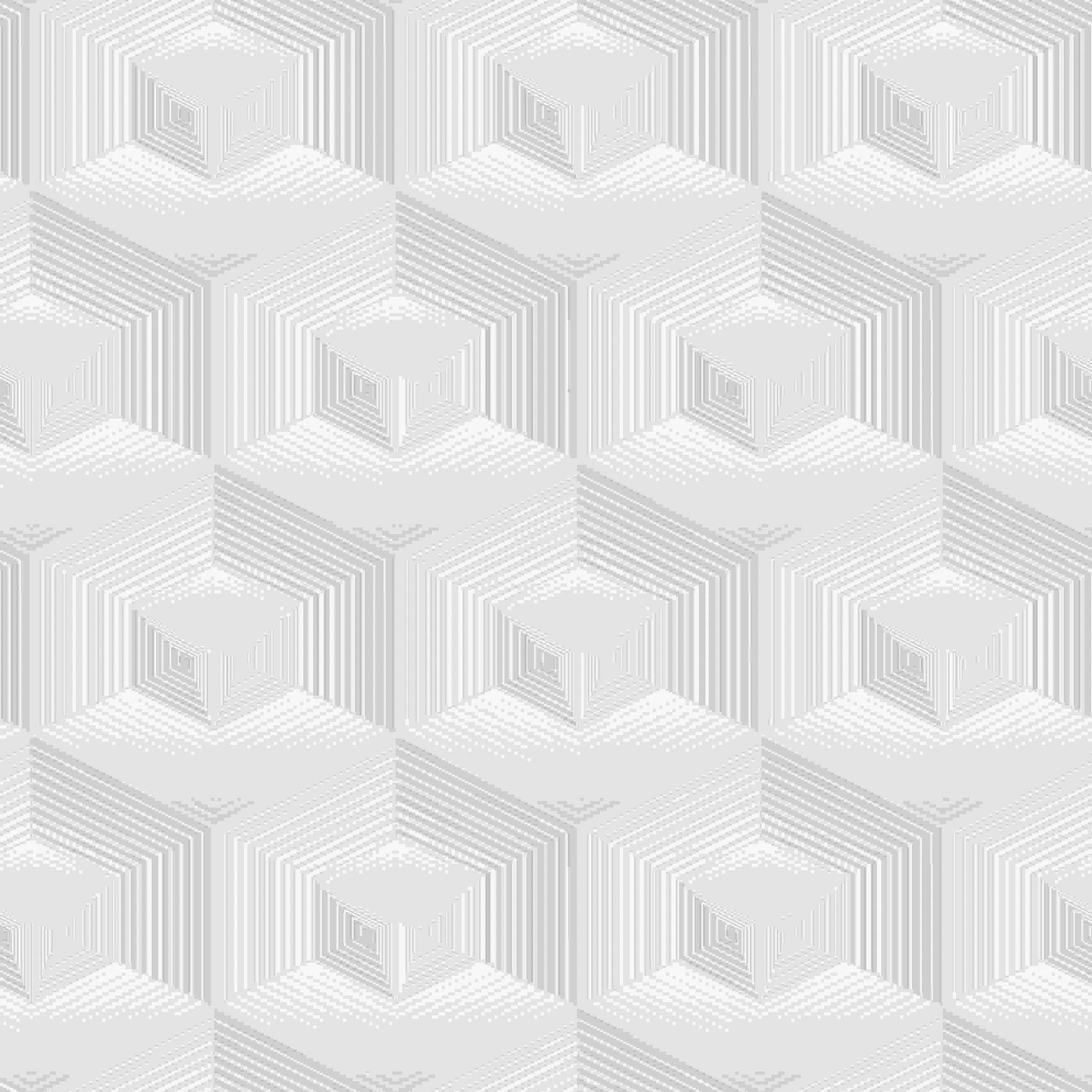 Papel de Parede Kan Tai Vinílico Coleção Neonature 5 Geométrico Cinza, Bege, Off white