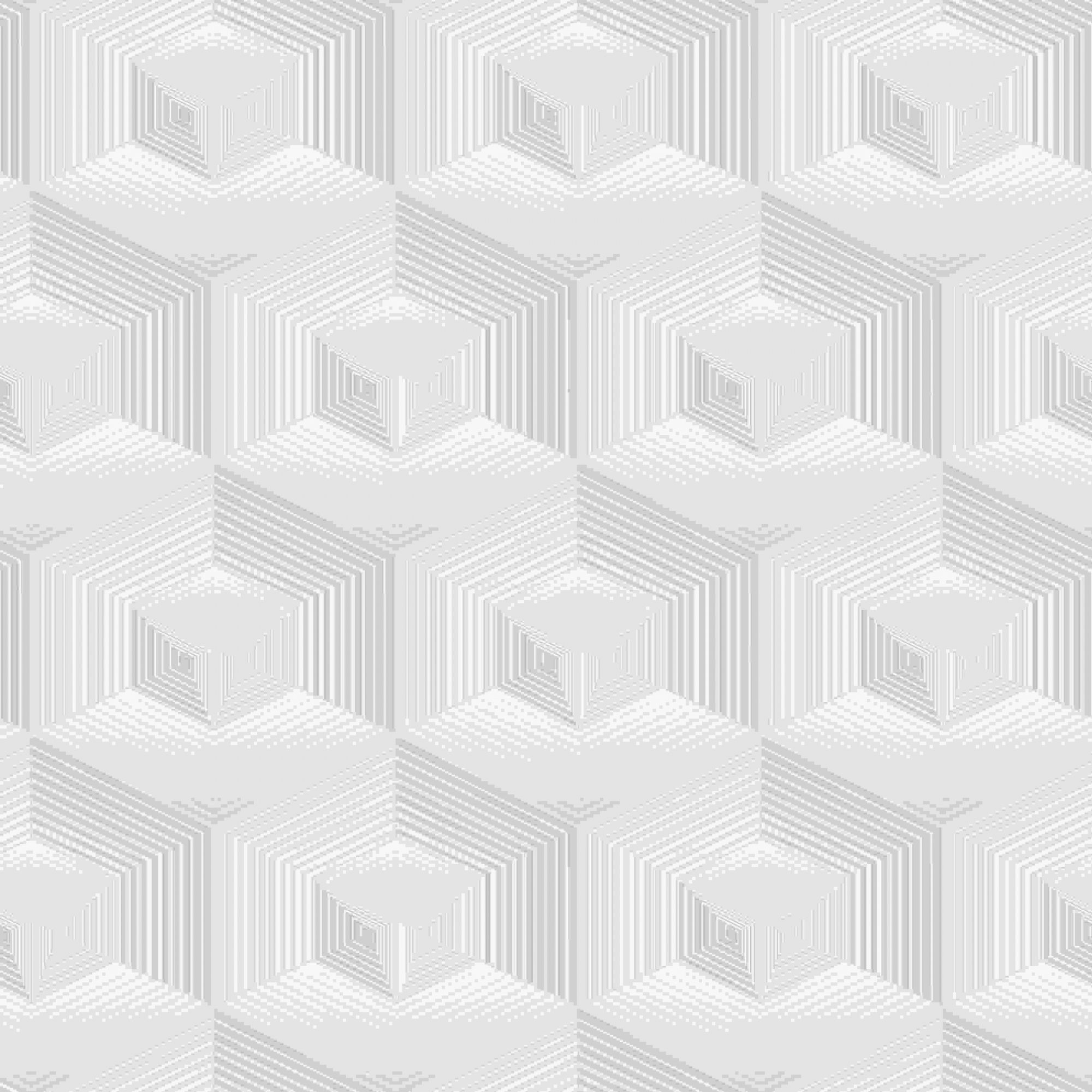Papel de Parede Kan Tai Vinílico Coleção Neonature 5 Geométrico 3D Cinza, Bege, Off white
