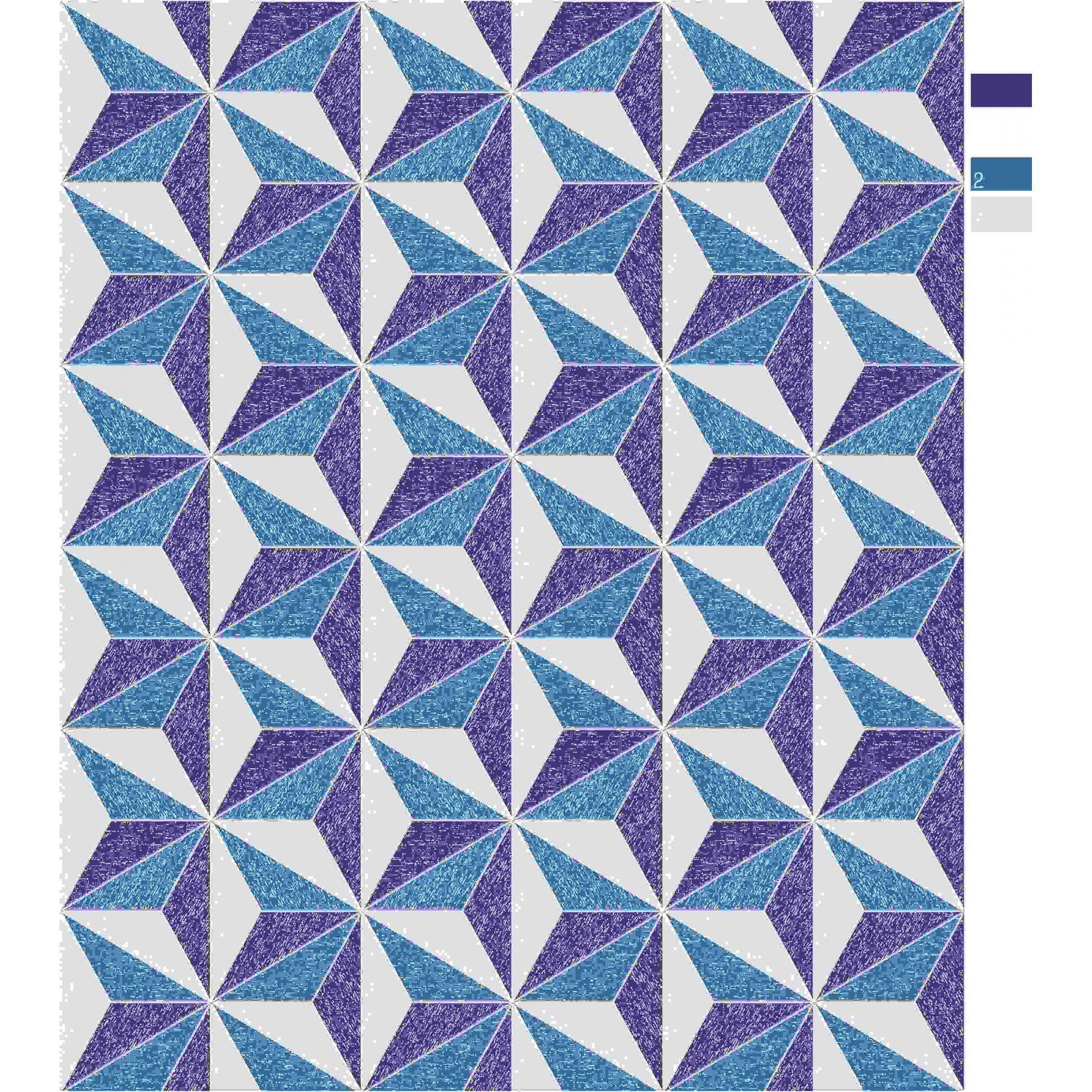 Papel de Parede Kan Tai Vinílico Coleção Neonature 5 Geométrico Estrela Azul, Marinho, Cinza