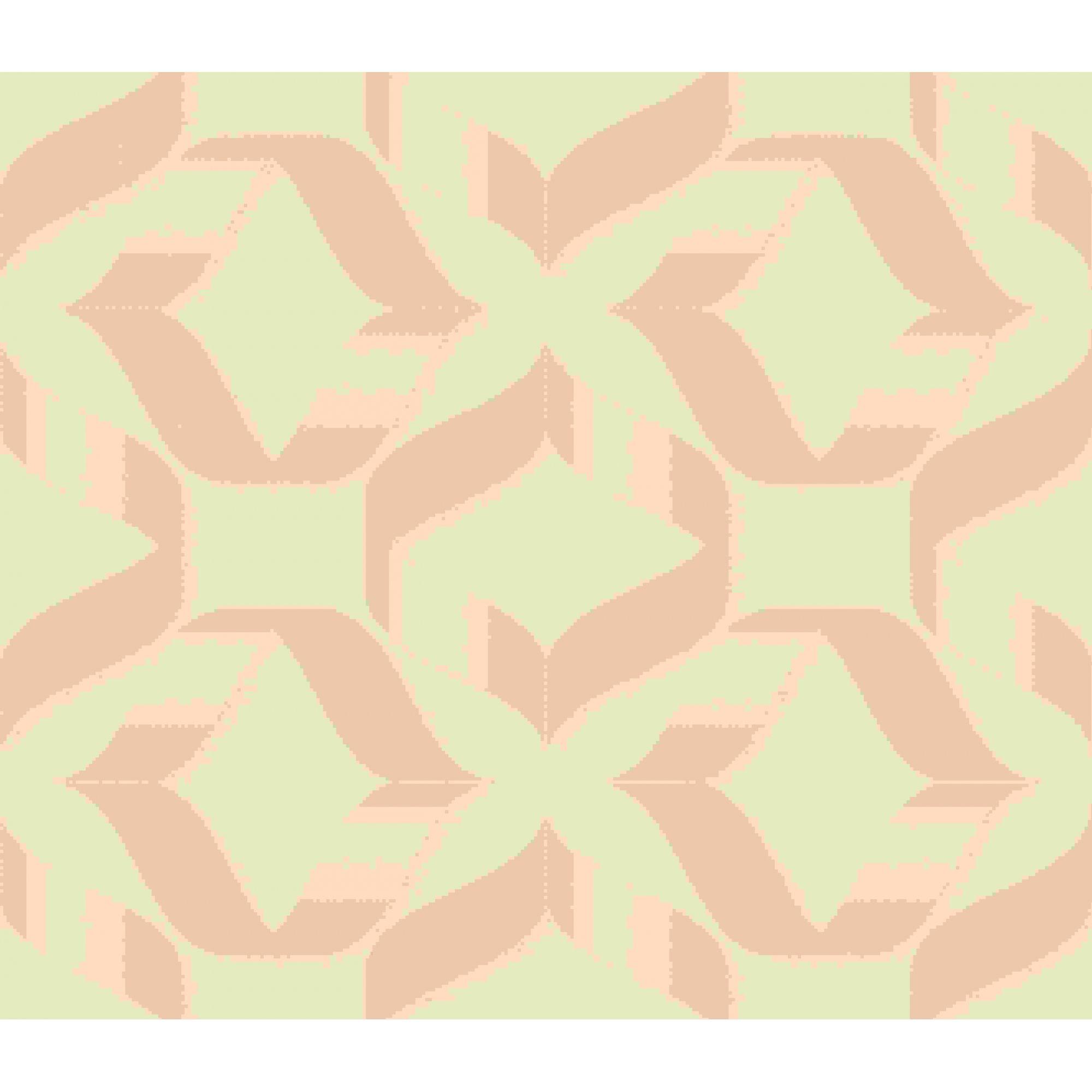 Papel de Parede Kan Tai Vinílico Coleção Neonature 5 Geométrico Formas Bege, Dourado brilho