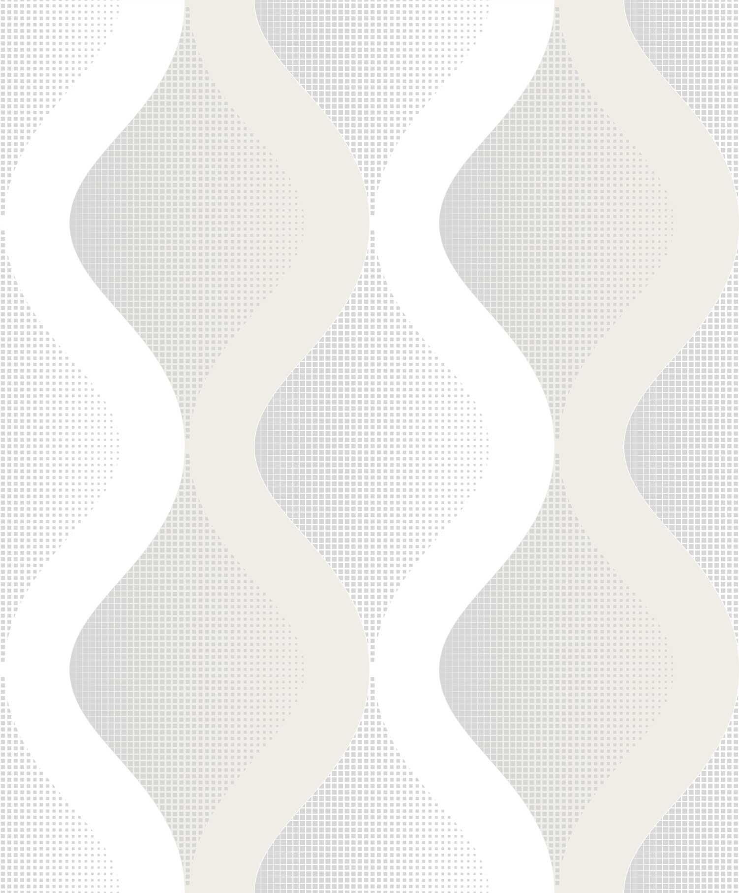 Papel de Parede Kan Tai Vinílico Coleção Neonature 5 Geométrico formas Cinza, Creme