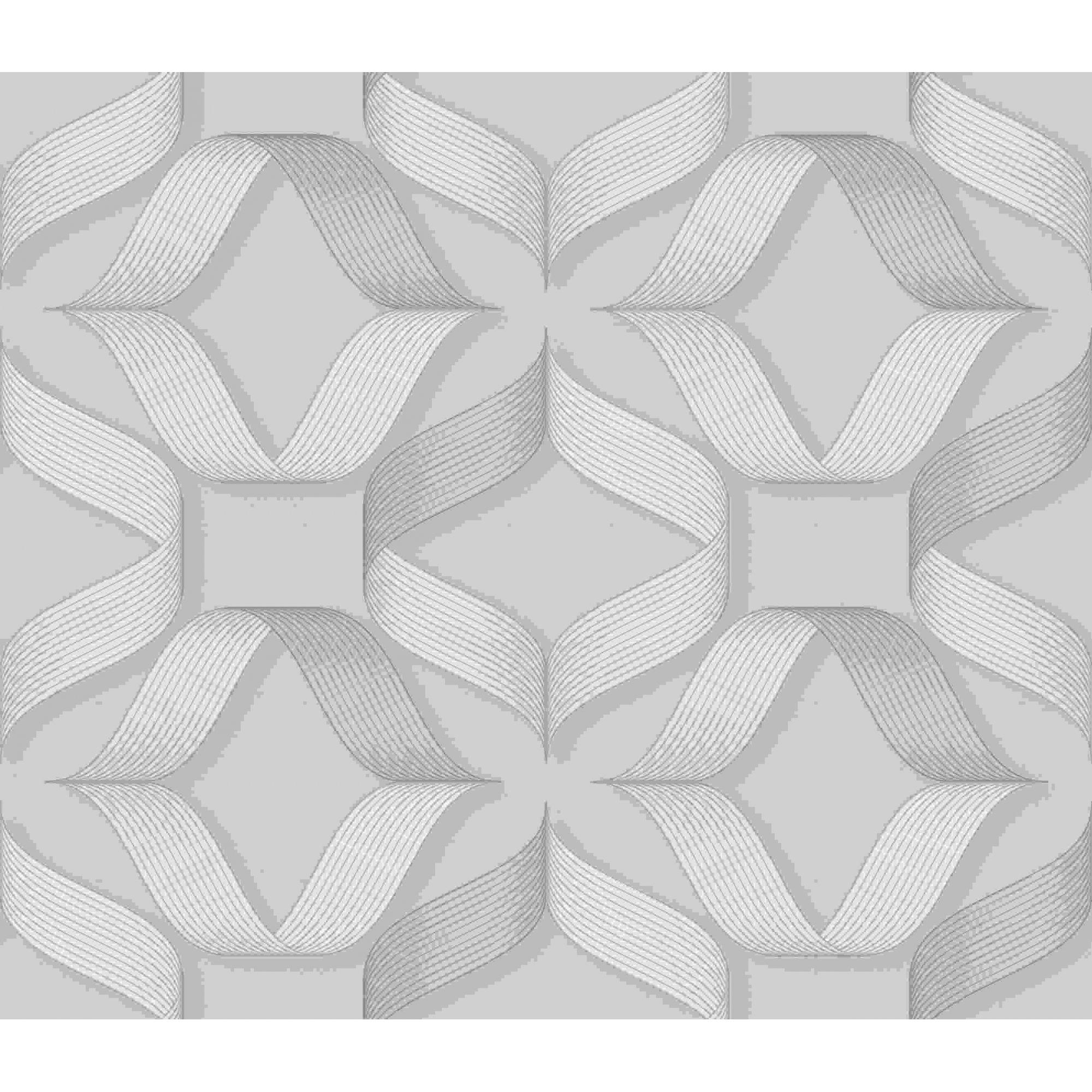 Papel de Parede Kan Tai Vinílico Coleção Neonature 5 Geométrico formas Creme, Dourado, Brilho