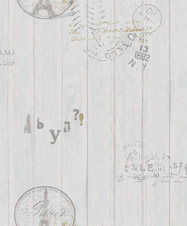 Papel de Parede Kan Tai Vinílico Coleção Neonature 5 Torre Eiffel Branco gelo