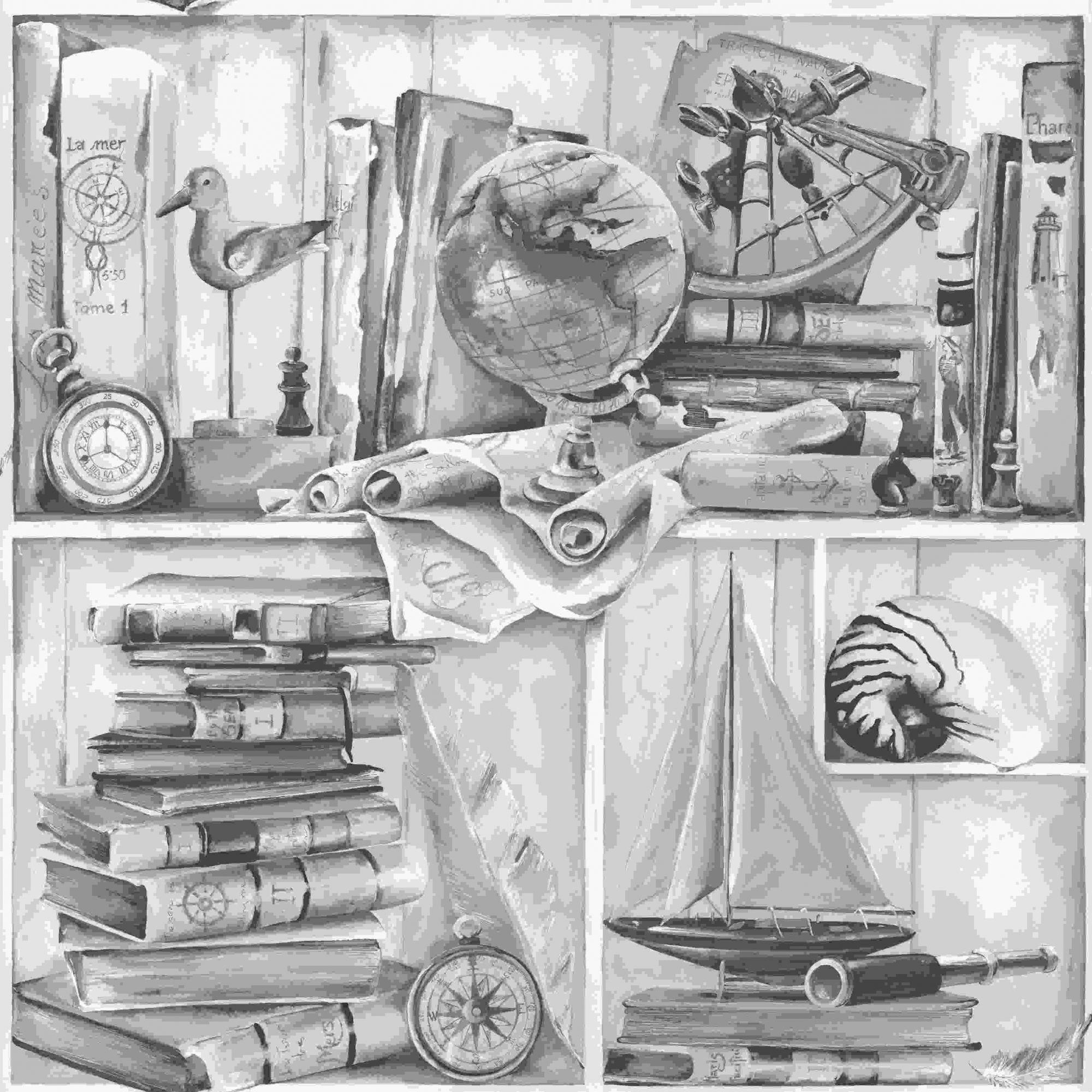 Papel de Parede Kan Tai Vinílico Coleção Neonature 5 Padronagem Tons cinza