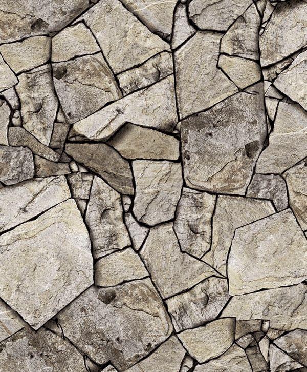 Papel de Parede Kan Tai Vinílico Coleção Neonature 5 Pedra Bege, Tons de cinza