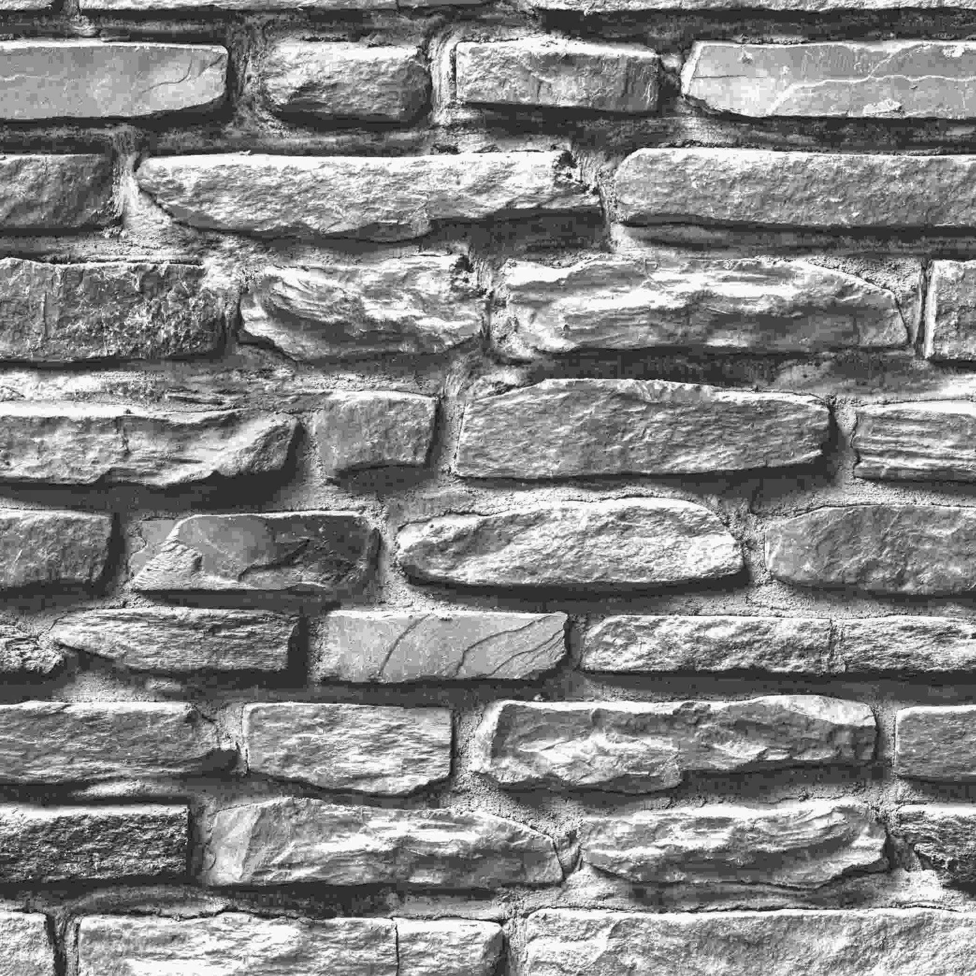 Papel de Parede Kan Tai Vinílico Coleção Neonature 5 Pedra Creme, Preto