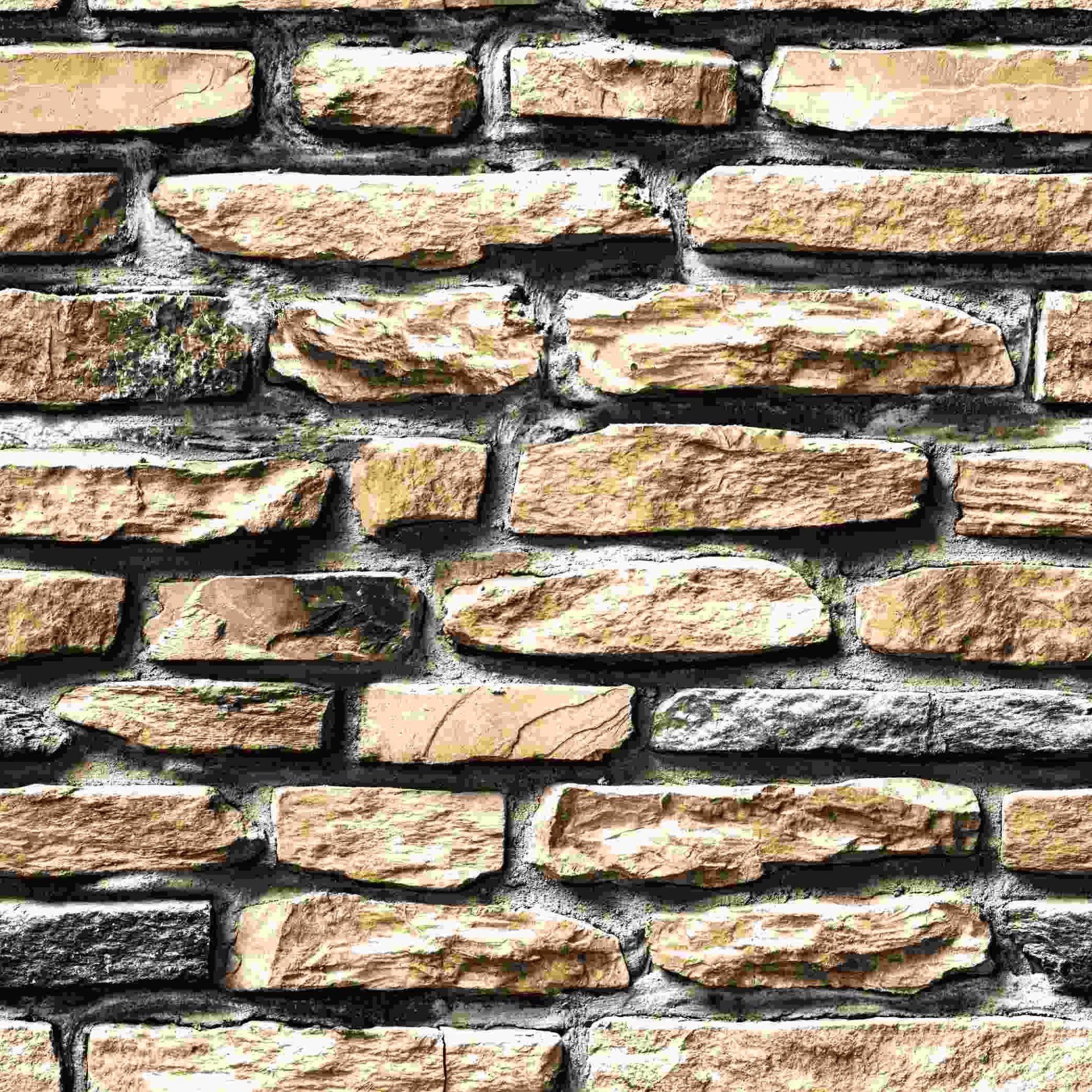 Papel de Parede Kan Tai Vinílico Coleção Neonature 5 Pedra Tons Marrom, Cinza