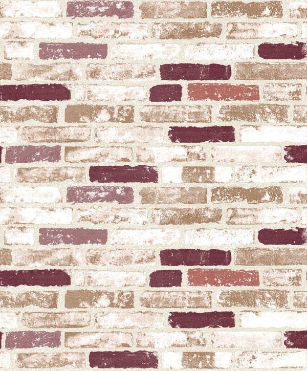 Papel de Parede Kan Tai Vinílico Coleção Neonature 5 Tijolo Branco, Gelo, Vermelho, Marrom