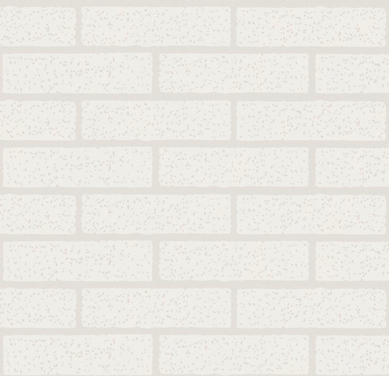 Papel de Parede Kan Tai Vinílico Coleção Neonature 5 Tijolo Branco, Rejunte cinza