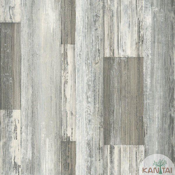 Papel de Parede Kan Tai  VinÍlico Coleção Neonature IV Textura Patina Acinzentado, Laranja
