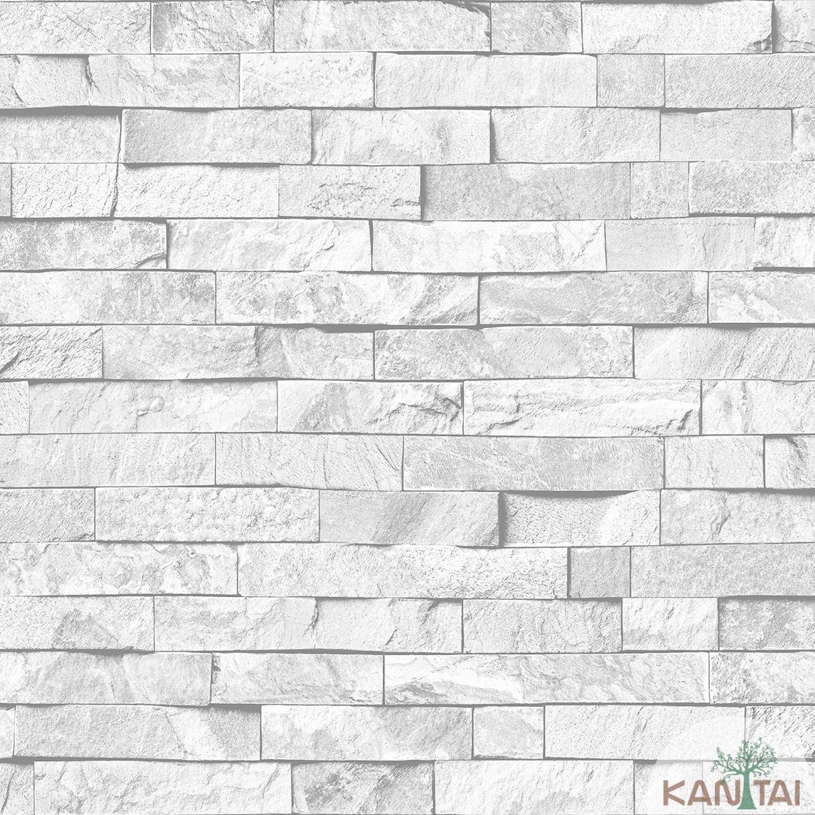 Papel de Parede Kan Tai  VinÍlico Coleção Neonature IV Filetes de pedra Tons cinza
