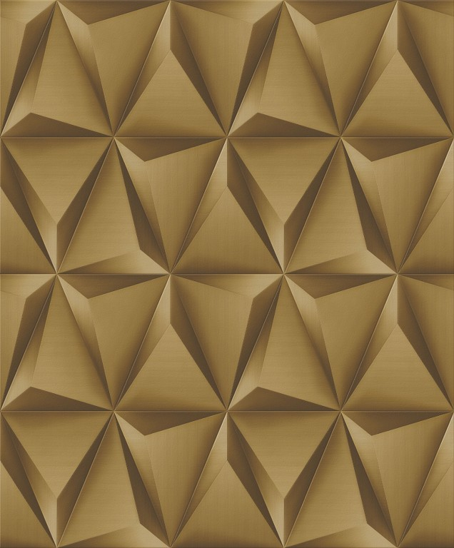d911c4c1c Papel de Parede Vinílico Coleção Paris Geométrico 3D Dourado - DECOR   CIA  ...