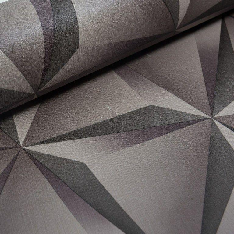 Papel de Parede Paris Decor Vinílico Coleção Paris Geométrico 3D Grafite