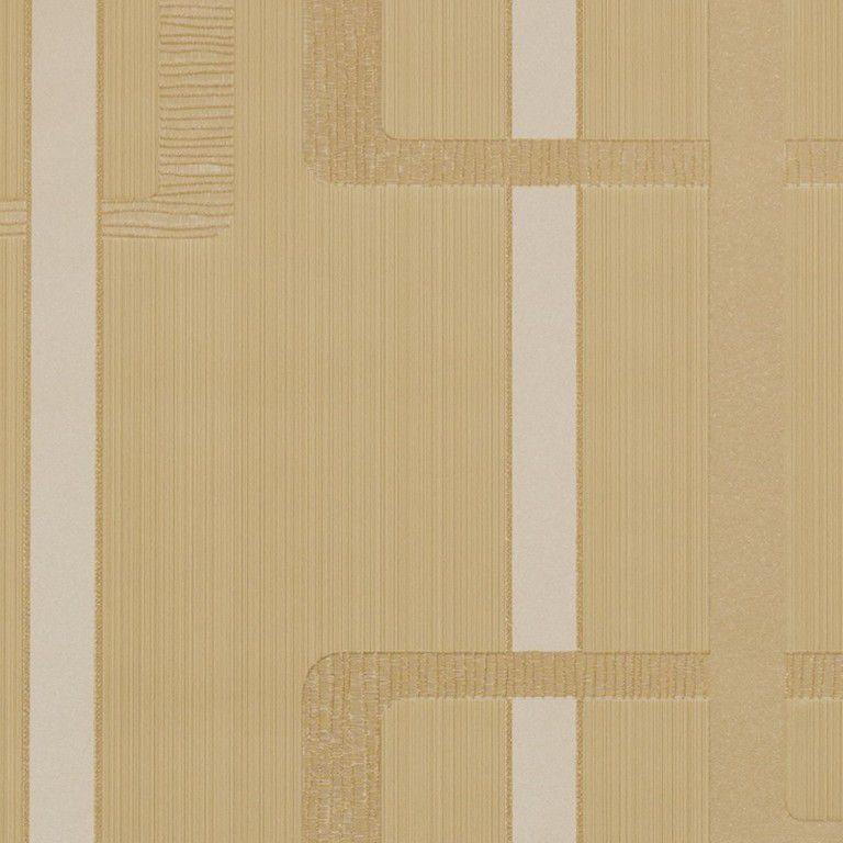 Papel de Parede Paris Decor Vinílico Coleção Paris Geométrico Caramelo, Dourado