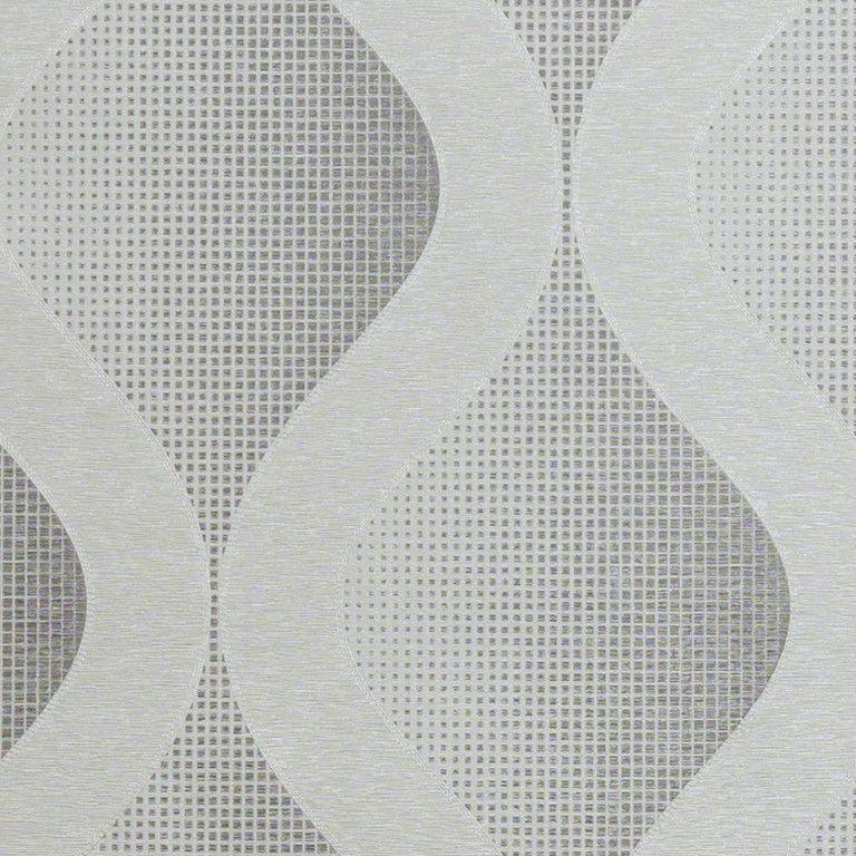 Papel de Parede Paris Decor Vinílico Coleção Paris Geométrico Cinza, Branco