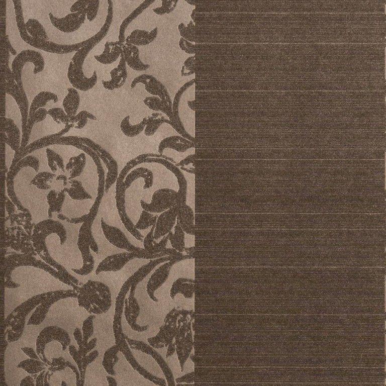 Papel de Parede Vinílico Coleção Paris Floral Marrom