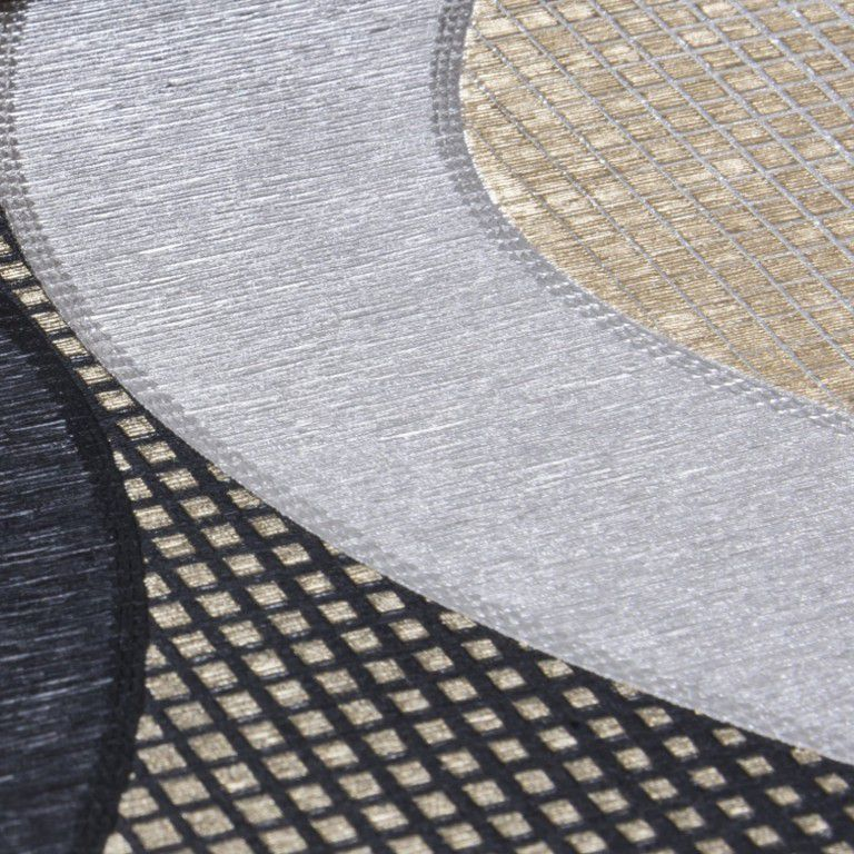 Papel de Parede Paris Decor Vinílico Coleção Paris Geométrico Marfim, Preto, Branco