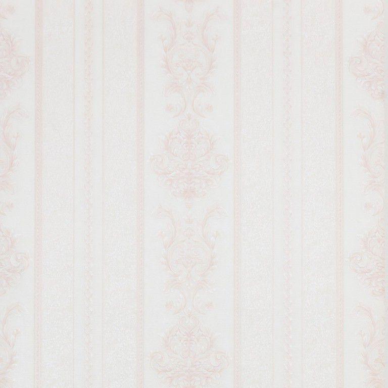 Papel de Parede Paris Decor Vinílico Coleção Paris Listras Damask Off White, Rosê