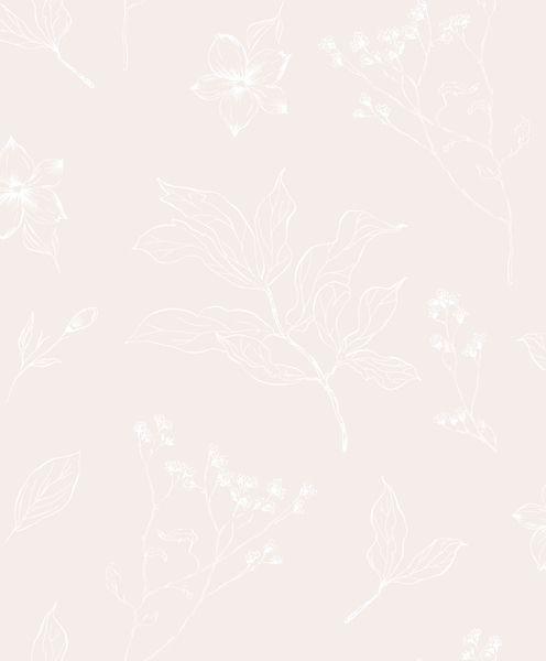 Papel de Parede Vinílico Coleção YoYo Infantil Floral Marfim