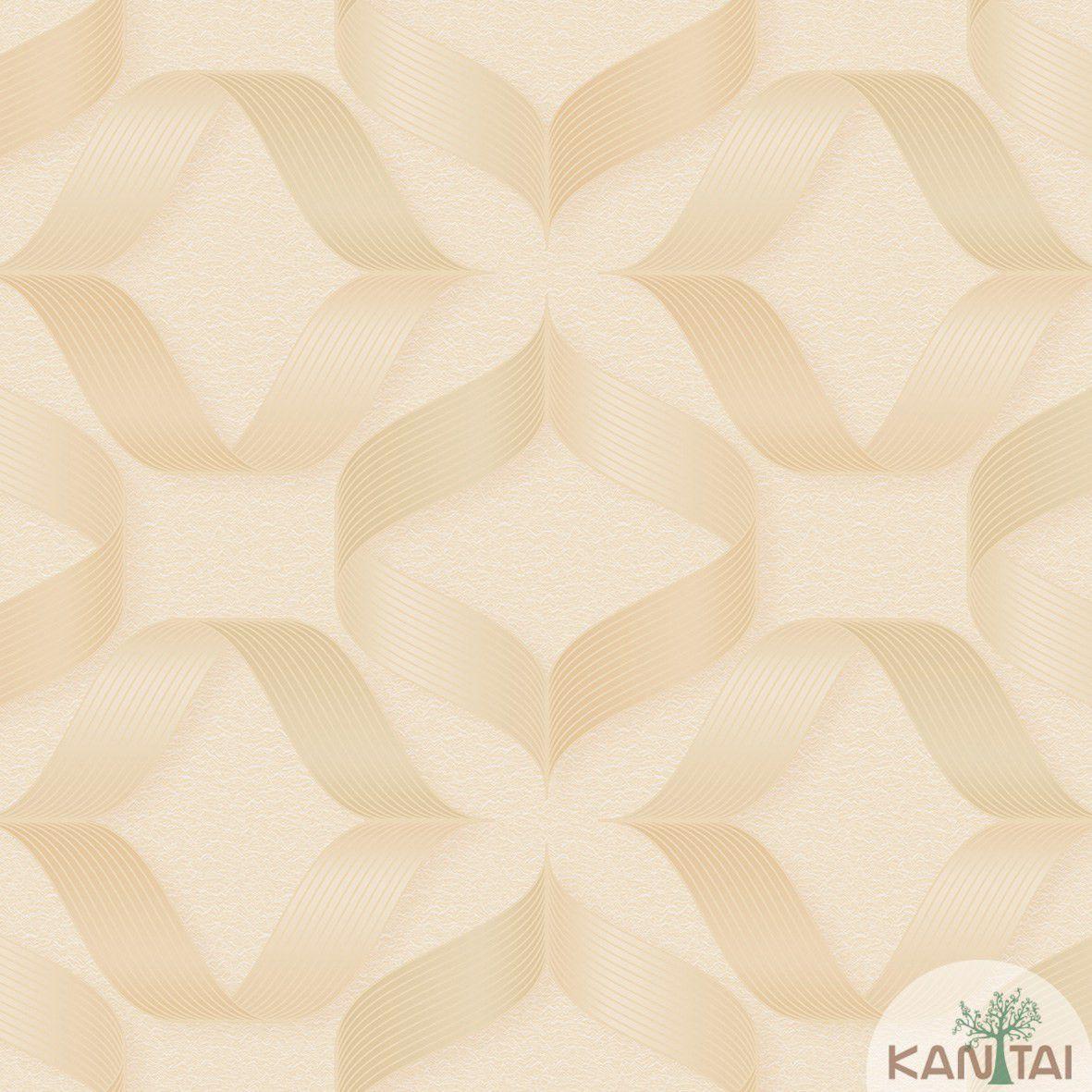 Papel de Parede   Kan Tai  Vinilico Coleção Neonature III 3D Geométrico Formas Bege, Creme