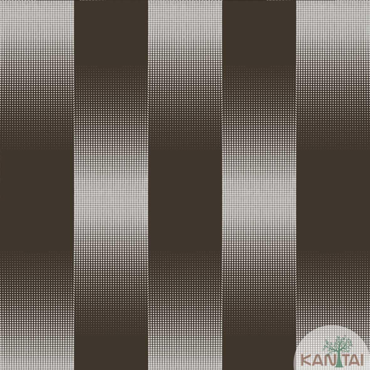 Papel de Parede   Kan Tai  Vinilico Coleção Neonature III Listrado Cinza, Prata, Marrom