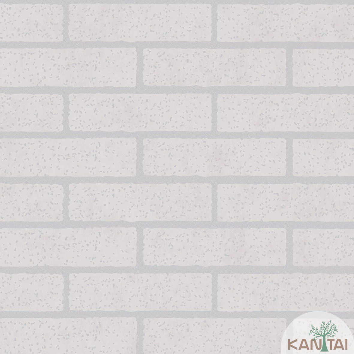 Papel de parede  Kan Tai Vinílico Coleção Style Tijolo Cinza Rejunte cinza