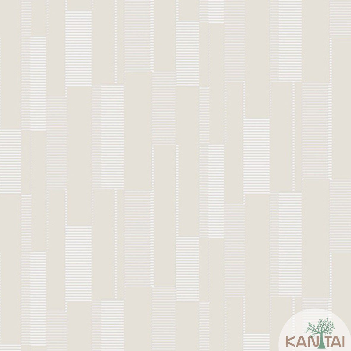 Papel de Parede  Kan Tai  Vinilico Coleção Style Geométrico Creme